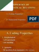 Properties of Grammatical Relations
