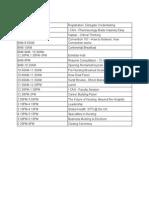 final schedule for website