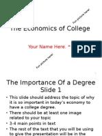 example of economics of college ppt 2015