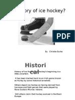 the history of ice hockey