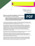 Boletín informativo / Defensoras mesoamericanas dialogarán con Relator Especial sobre la situación de las y los defensores de derechos humanos (230115)