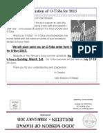 Jodo Mission Bulletin - February 2015