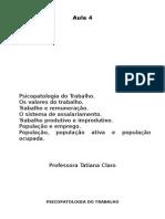 Sociologia do Trabalho - Prof. Tatiana Claro - Aula 4.doc