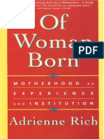 Of Women Born, Motherhood as Experience and Institution