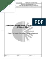 ET-PSA.01.TB.01 - Tabela - Painel de Serviços Auxiliares CA e CC (Rev.00)