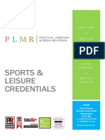 PLMR Sport and Leisure Credentials
