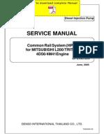 4m41 engine common rail system throttle fuel injection Mitsubishi 2 0 Diagram denso common rail mitsubishi l200 triton 4d56 4m41 service manual pages