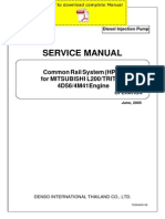 DENSO Common Rail Mitsubishi L200 Triton 4D56 4M41 Service Manual Pages