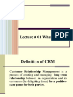 Lecture # 01 CRM
