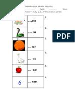 lembaran kerja huruf vokal