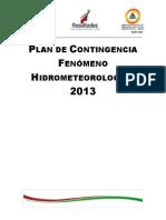 Plan Fenomenos Hidrometeorologicos Quintana Roo 2013