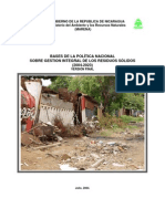 Bases Politica Nacional Gestion Integral de Los Residuos Solidos