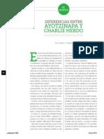 Diferencias entre Ayotzinapa y Charlie Hebdo