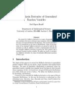 The Malliavin Derivative of Generalized Random Variables