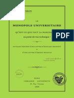 Severin Jules - Le monopole universitaire.pdf