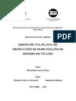 PLANTA DE PRODUCCIÓN - DIÓXIDO DE TITANIO
