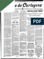 Noticias musicales de 1922 en Cartagena