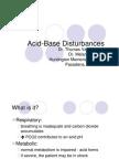 Acid Base Disturbances