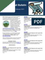 The Calvin Ball Bulletin February 2015 Legislation Edition