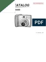 Canon PS A550 SM (part)