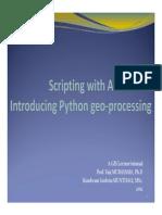 Scripting With ArcGIS10 Kondwani
