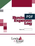 Business Exspense Log