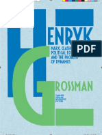 Draft cover for Henryk Grossman 'Marx, classical political economy and the problem of dynamics'