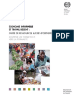 GUIDE TRANSITION ECONOMIE INFORMELLE VERS TRAVAIL DECENT