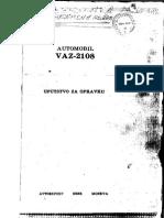 Samara VAZ 2108 uputstvo za odrzavanje