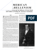 American Philhellenism -Jefferson and American Constitution