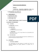 PROYECTO DE EDUCACION AMBIENTAL UNAC