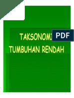 Pab 212 Slide Taksonomi Tumbuhan Rendah