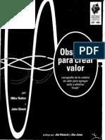 Book Observar Para Crear Valor Learning to See