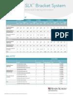 Carriere® SLX™ Bracket System Rx Chart