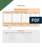 EJERCICIOS FUNCION LINEAL2