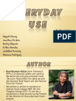 everyday use 7 The meaning of heritage in everyday use by alice walker in the short story everyday use by alice walker, she introduces a rural black family who struggle with the meaning of.