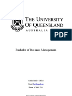 University of Queensland - Bachelor of Business Management