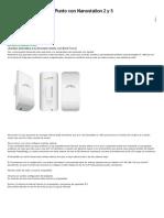 Configurar Un Punto a Punto Con Nanostation 2 y 5