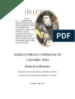 Boletín Día de La Reforma. Viernes.