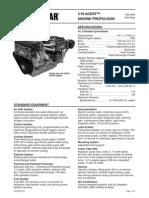 Cat C18 ACERT Spec Sheets - Commercial   C18 ACERT marine propulsion engine specifications.pdf