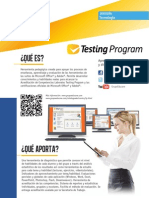 07 Testing Program FichaTécnica