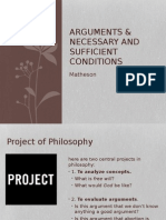 Arguments and Necessary and Sufficient Conditions