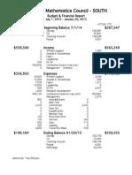 2015 january budget report