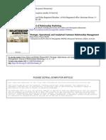 Strategic Operational Anlytical CRM JRM