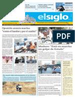 Edición Impresa Elsiglo 24-01-2015