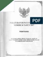 Peraturan Bupati Kabupaten Pasuruan