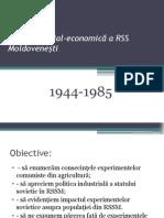 Evoluţia Social-economică a RSS Moldoveneşti