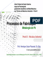 04 - Processos de Fabricacao - Metalurgia Do Po