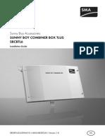 Ficha Tecnica y Conexion Sunny Boy Combiner Box Tlus