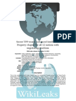 Wikileaks Secret TPP Treaty IP Chapter
